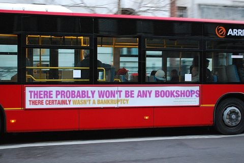 There probably won't be any bookshops - there certainly wasn't a bankruptcy